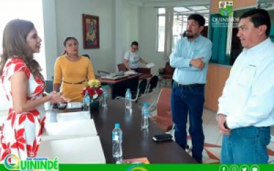 REPRESENTANTES DE OCP ECUADOR VISITARON LAS INSTALACIONES DE LA UNIDAD DE GESTIÓN SOCIAL DEL GADMCQ.
