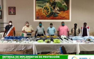 TRABAJADORES MUNICIPALES RECIBIERON PRENDAS DE PROTECCIÓN