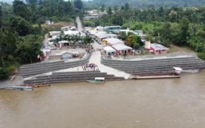 Gobierno Municipal construye muro de gaviones en Chura
