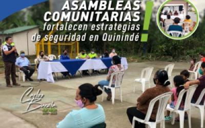 A TRAVÉS DE ASAMBLEAS COMUNITARIAS ALCALDÍA DE QUININDÉ FORTALECE ESTRATEGIAS DE SEGURIDAD EN BARRIOS